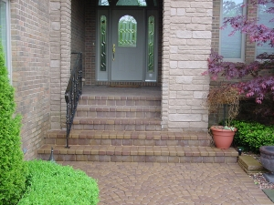 brick paver stairs