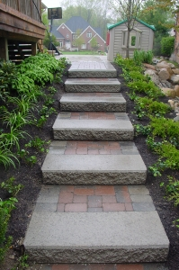 brick paver steps