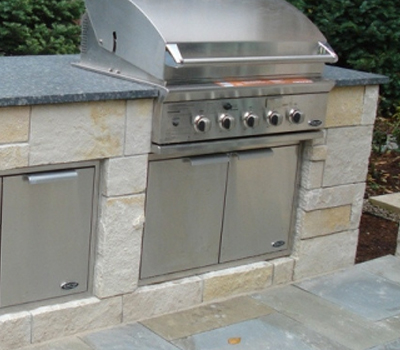 Brick &: Stone Outdoor Living Gallery  | SDS Stone Paving Oakland MI - bbq