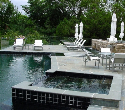 Professional Outdoor Fireplace Installation Around Sterling Heights MI - SDS Stone Paving - pools
