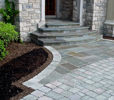 Past Work | Stone & Brick Hardscape | SDS Stone Paving Oakland County MI - entryways