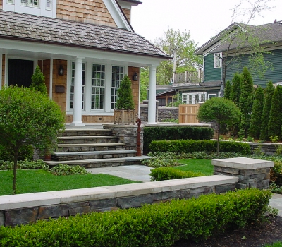 Past Work | Stone & Brick Hardscape | SDS Stone Paving Oakland County MI - wall